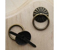 Декоративная ручка для шкатулок, диаметр 18 мм, бронза, 4 шт. в упак.