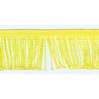 Бахрома витая, 60 мм, цвет желтый пастельный