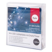 Гирлянда миниатюрная светодиодная с таймером, 10 мини-LED ламп