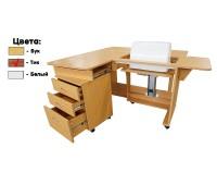 Стол раскладной для швейной машины с раскройным местом QUILTERS DELIGHT, тик