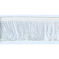 Бахрома витая, 60 мм, цвет белый блестящий
