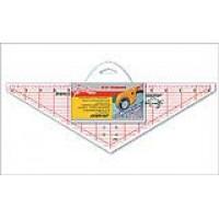 """Линейка-треугольник с углом 120*, градация в дюймах, размер 14 1/2"""" x 4 1/2"""""""