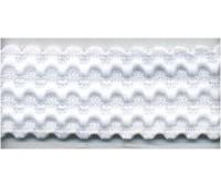 Резинка декоративная, 25 мм, цвет белый