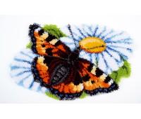 """Набор для вышивания коврика """"Бабочка на ромашке"""""""