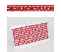 Лента PEGA с орнаментом ромбики малые, 6 мм