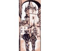 """Рисунок на канве """"Городская ратуша"""""""