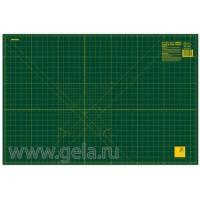 Мат для пэчворка, толщина 1,6 мм, зеленый, 92 х 61 см
