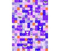 """Бумага """"Patchwork violett"""", А4, 200 г"""