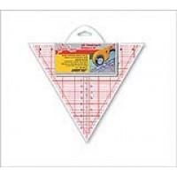 """Линейка-треугольник с углом 60*, градация в дюймах, размер 8"""" х 9 1/4"""""""