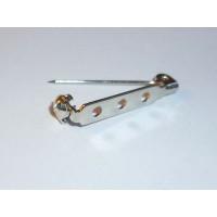 Булавка для броши с 3-мя отверстиями металлическая, 27 мм