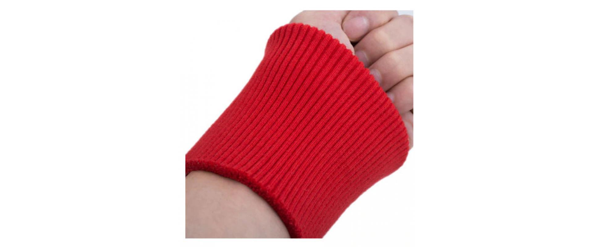 Манжеты трикотажные HKM (пара), цвет красный