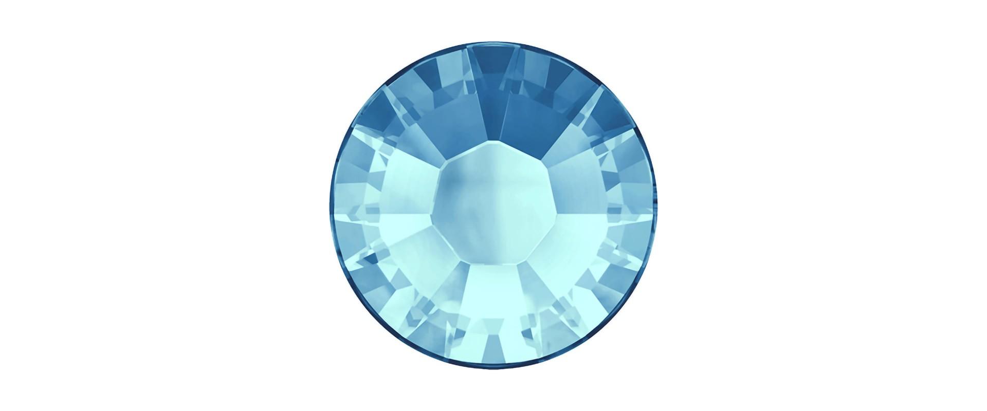 Камни плоские с термоклеем 2028HF, ss 5, Aquamarine M