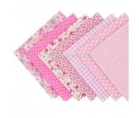 Набор из кусочков тканей 50*50см, 7 шт розовое ассорти