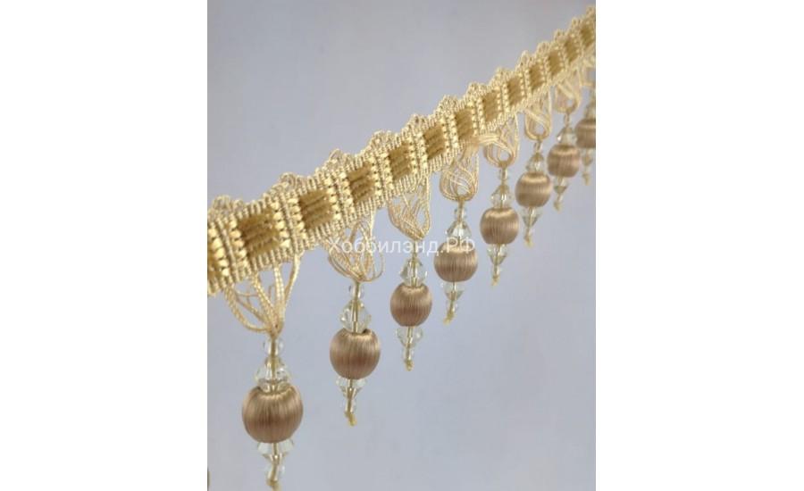"Бахрома для штор ""Персия"" светлое золото"
