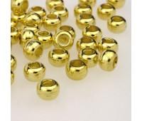 Концевик пластиковый 2003 золото (100 шт)