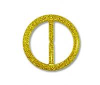 Пряжка из смолы 244G-3 золото (20 шт)