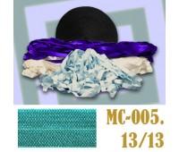 Эластичная отделочная лента 13/13 (14) MC-005 бирюзовая (50 ярд)