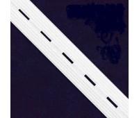 Перфорированная резинка 99017-25 белый (44 м)