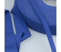 Трикотажная пряжа синий 30 мм/50 м