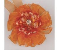 Клипса-магнит цветок-органза SM-H9-005 ярко-оранжевый (2 шт)