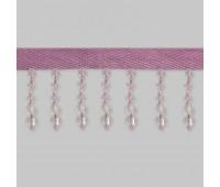 Бахрома для штор из стекляруса 158-54/B164 бледно-розовый (20 м)