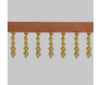 Бахрома для штор из стекляруса 158-54/B147 оранжевый (20 м)