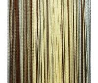 Кисея из нитей коричневый/бежевый/голубой F-615 (1,3)