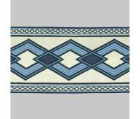 Бордюр для штор K1203-4 белый/синий/голубой ±12 см (25 м)