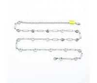 Ремень металлический 736 никель (10 шт)
