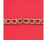 Цепь из алюминия NK127 (9,8x16,8) русское золото (91,44 м)
