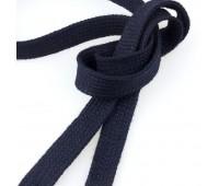 Шнур 3 темно-синий 14 мм плоский вязянный (45,72 м)