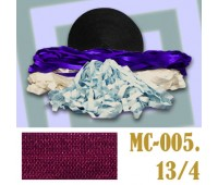 Эластичная отделочная лента 13/4 (2) MC-005 бордо (50 ярд)