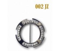 Пряжка со стразами 002-JZ темный никель