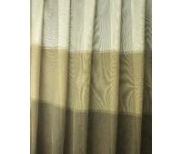 Ткань для штор микросетка Doner 188 V11 бежевый/коричневый высота 290 см (30 м±)