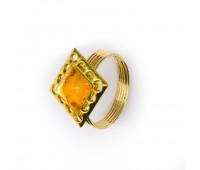 Кугель для штор со стразами Квадрат HJH85465 золото (4 шт)