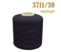 Оплетенная латексная нить 3711/30 черный
