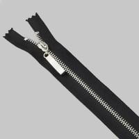 Молния Кружевная металл разъемная 90 см Т4 никель/черный (прямой)