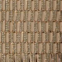Стразы на листе 24х4см клеевые (прямоугольник 5х15мм) 37# персик/персик