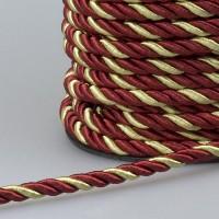 Шнур витой SH14-7 темно-красный/золотой (25 м)
