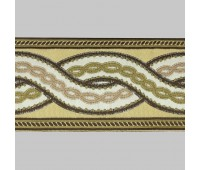 Бордюр для штор K1201-1 бежевый/белый/коричневый ±12 см (25 м)