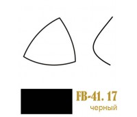 Чашки для бюстгалтеров корсетные FB-41.16(17)/75 черные (10пар)