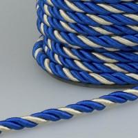 Шнур витой SH008 синий/золото (50 м)