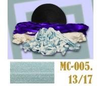 Эластичная отделочная лента 13/17 MC-005 голубая (50 ярд)
