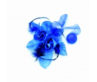 """Магниты для штор """"два цветка"""" синие MH37 (уп. 4 шт.)"""