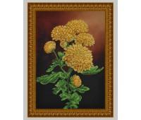 """Набор для вышивания бисером """"Ветка желтых хризантем"""" 082"""