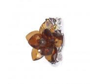 Прищепка для штор Лотос из страз HJH87954-4 коричневый (2 шт)