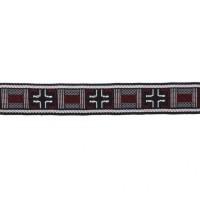 Тесьма 3-126 черный/бордо (50 ярд)