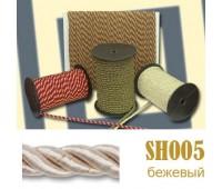 Шнур витой SH005 бежевый (люрикс) (50 м)