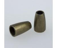 Концевик металлический 1086Y бронза (100 шт)