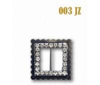 Пряжка со стразами 003-JZ темный никель